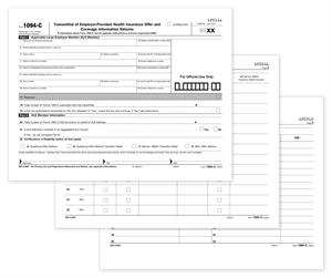 Item 92636.5500, 1094-C, IRS Transmittal for 1095-C Forms