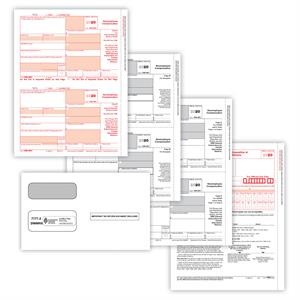 Item NE6102E, 1099-NEC, Laser, 3-part Set with Envelopes